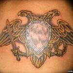 тату эмблема пограничных войск
