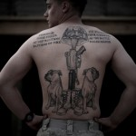 AFGHANISTAN-US-MARINES-TATTOOS