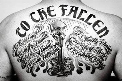 татуировка посвященная павшим