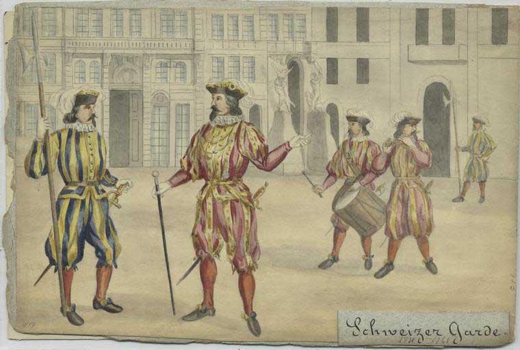 швейцарская гвардия в 17 веке