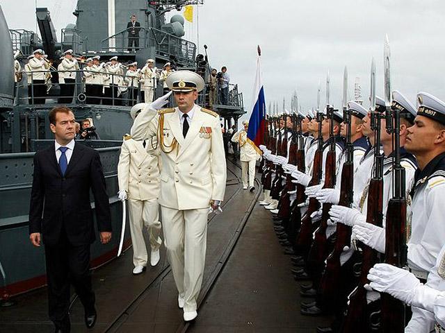 Медведев на флоте