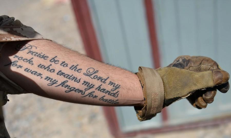 татуировки солдат НАТО в Афганистане