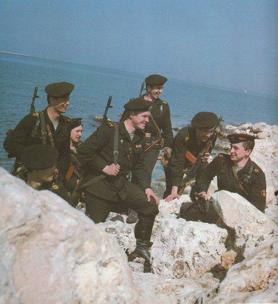 черные береты морской пехоты СССР