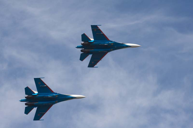 Русские витязи в небе над Белгородом