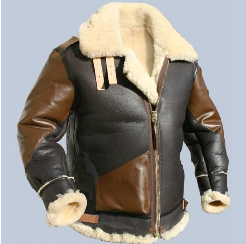 B-3 Bomber Sheepskin Jacket