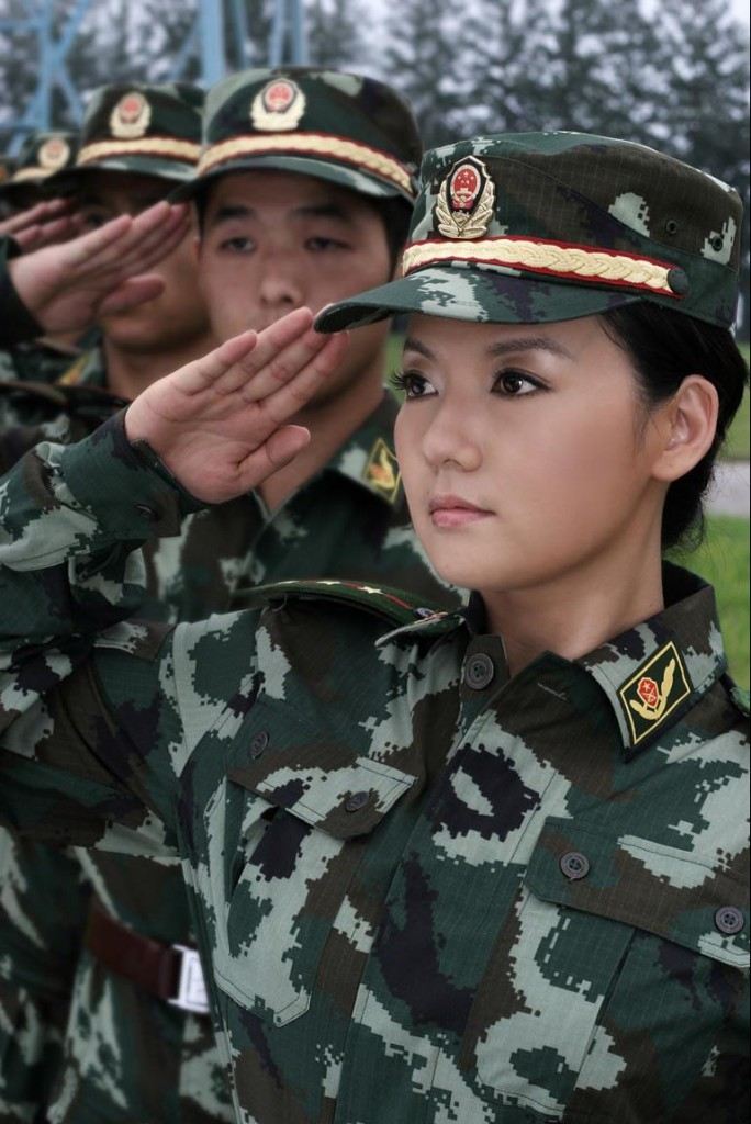 military_woman_china_army