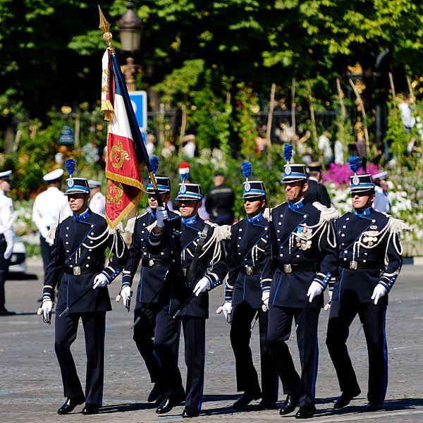 Флаг Французской национальной полиции и службы безопасности министерства внутренних дел