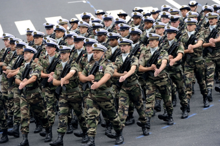 French navy servicemen