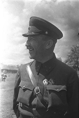 Командир 1гв.конного корпуса гвардии генерал-лейтенант Павел Алексеевич Белов, 28 июня 1942г