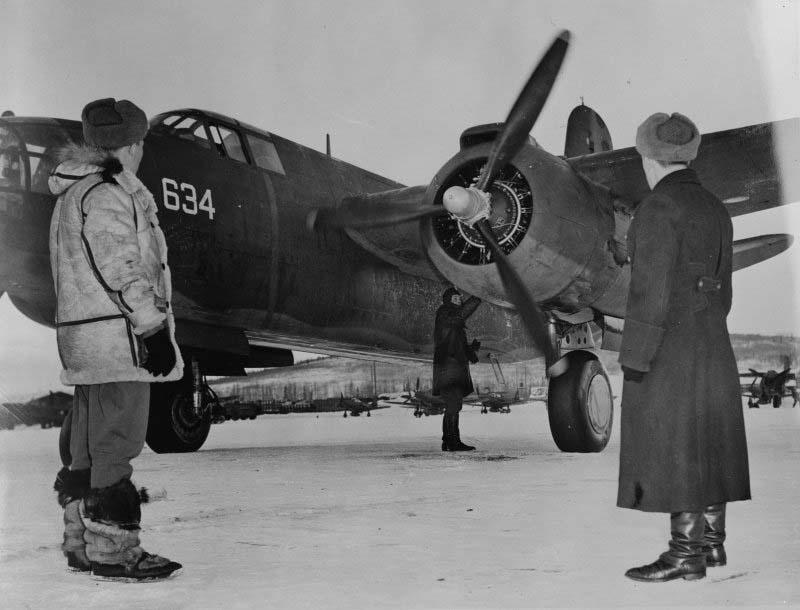 бомбардировщик А-20 (Douglas A-20 Boston), передаваемый по ленд-лизу.