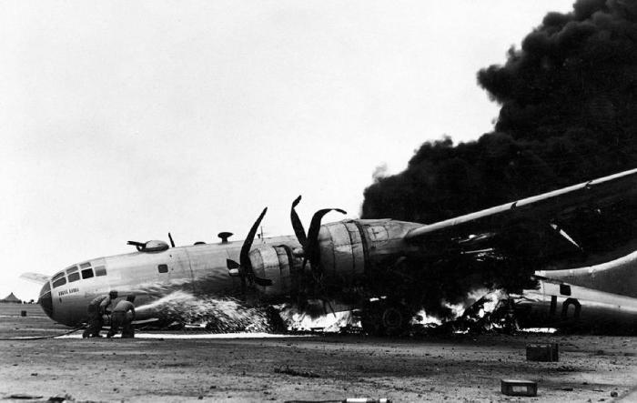 бомбардировщик B-29 из 504 бомбардировочной группы