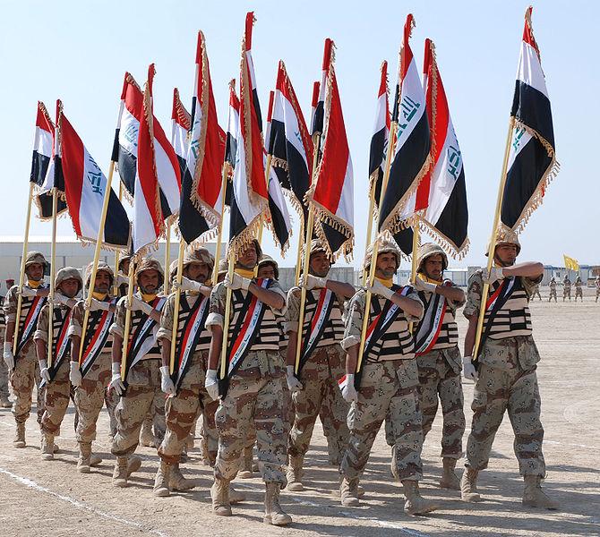 Выпускники базовой подготовки иракских дивизии в Besmaya