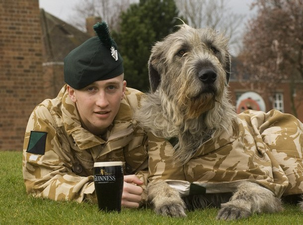 1 Royal Irish prepare for the big day with a pint of Guinness