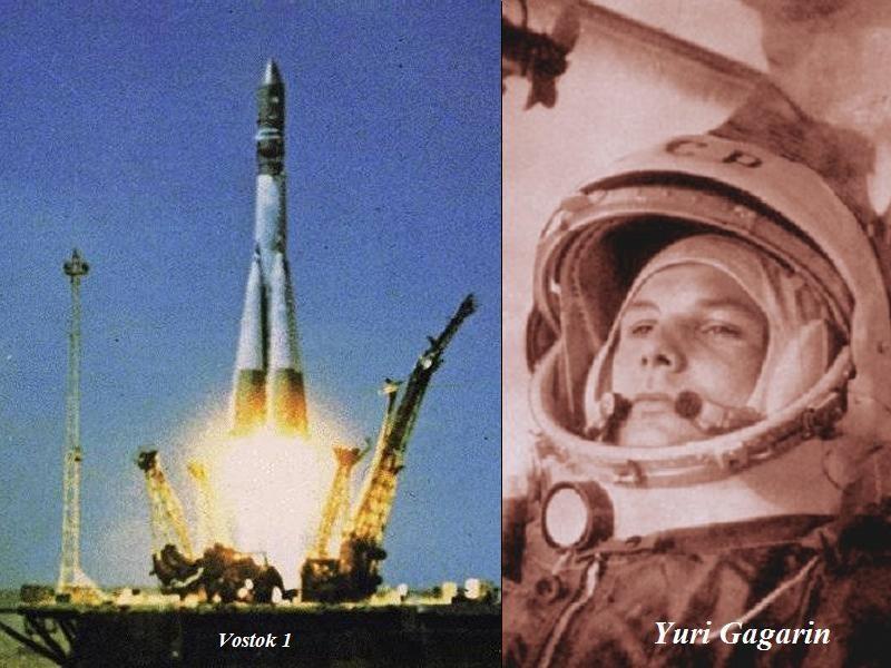 sovetskij kosmonavt Ju. A. Gagarin