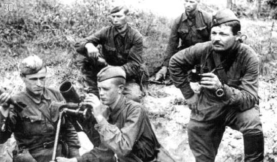 Расчет 82-мм миномета, июль1941