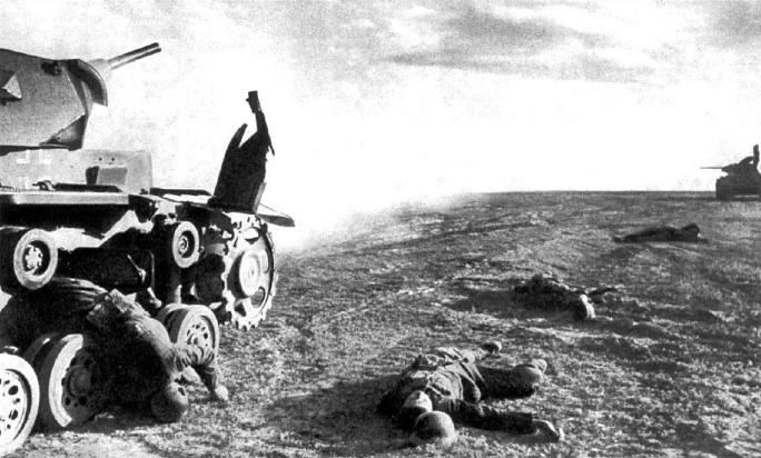 Поединок с опытным советским экипажем очень часто заканчивался для покорителей Европы вот так.