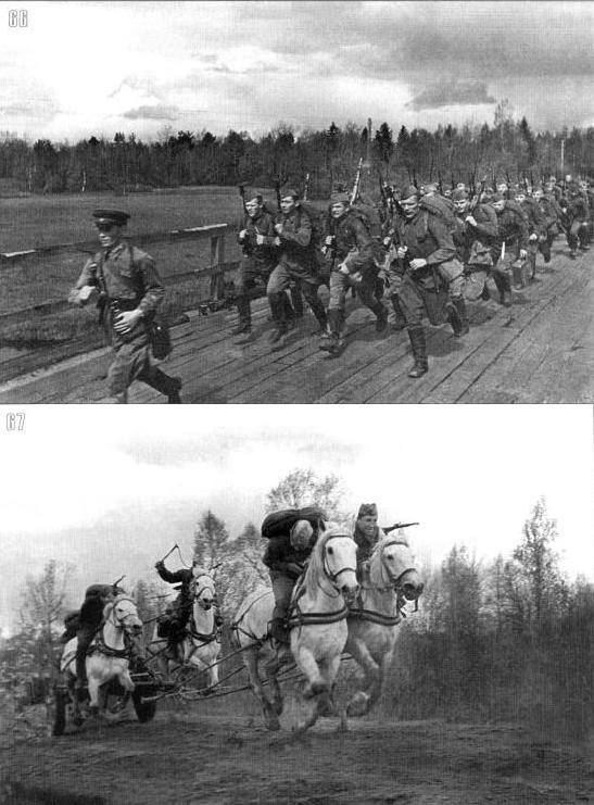пехота и артиллерия 70-й стрелковой дивизии спешно выдвигается на позиции