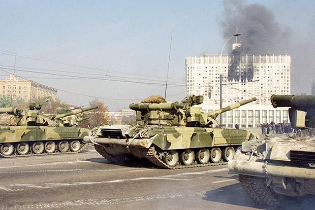 расстрел Парламента из танковых орудий
