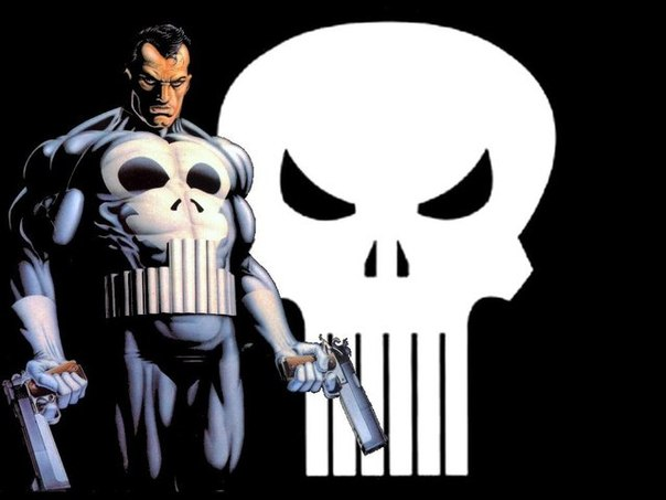 The Punisher and his skull symbol are frightening to evildoers