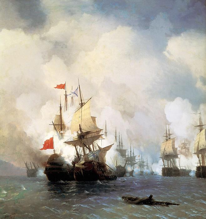 Бой в Хиосском проливе 24 июня 1770 г