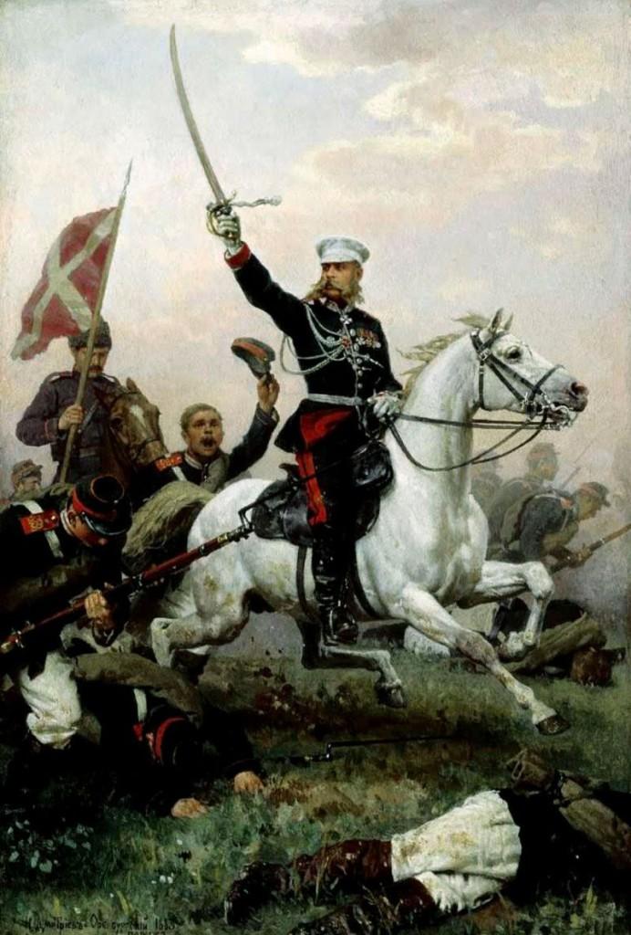 dmitriev_orenburgsky-Генерал Михаил Дмитриевич Скобелев на коне