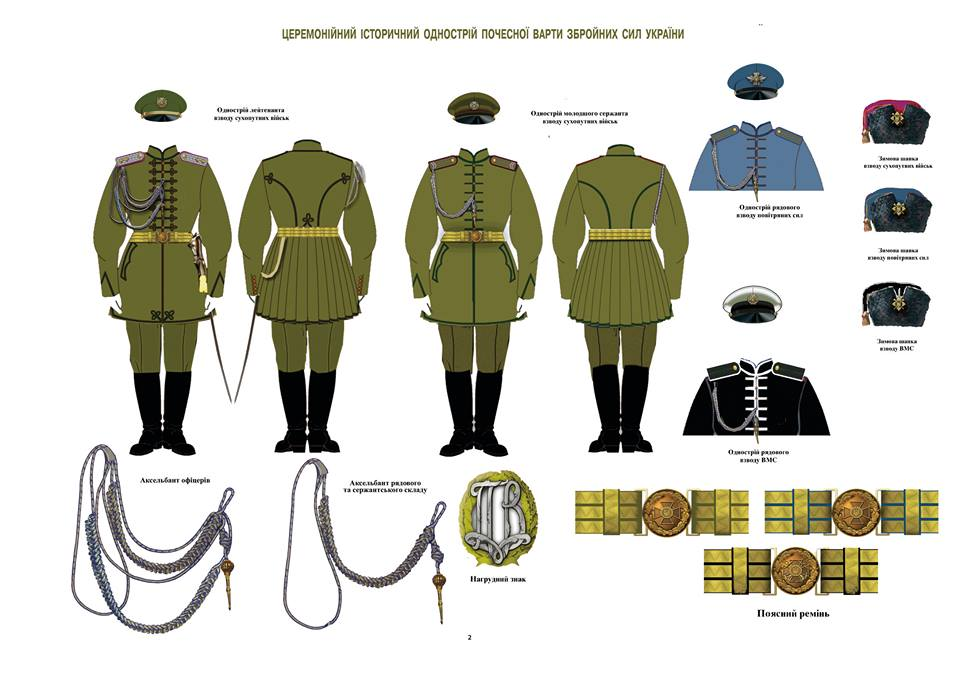 Церемониальная историческая униформа почетного караула