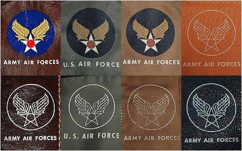 Ранние МА-1 также имели напечатанную эмблему USAF на рукаве