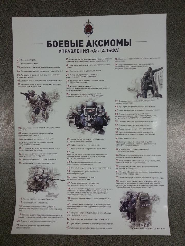 54 боевые аксиомы Группы Альфа
