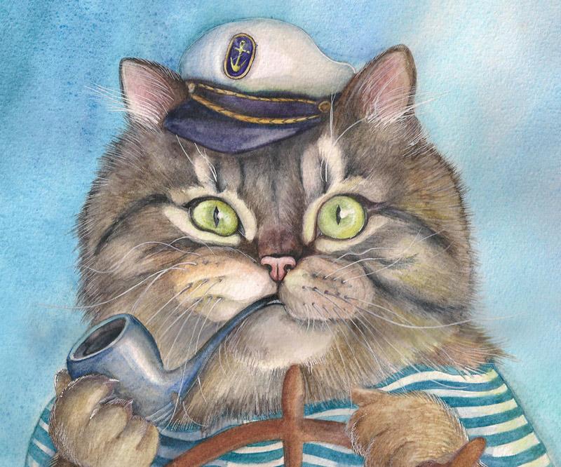 коты выходили в море с незапамятных времен