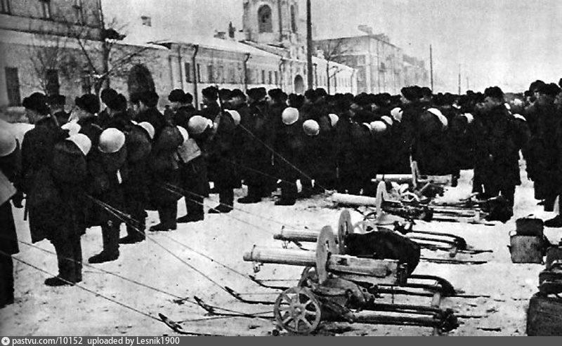 1-й Московский отряд моряков, 7 ноября 1941 г