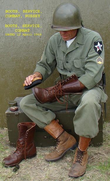 Красно-коричневые полевые ботинки M1948 армии США