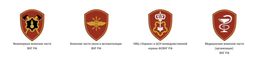 Нарукавные знаки войск национальной гвардии РФ