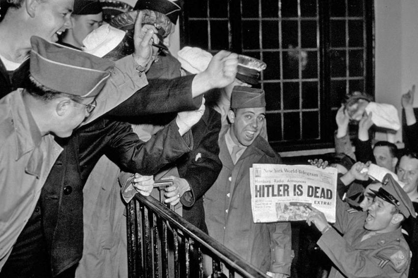 Нью-Йорк, май 1945 года