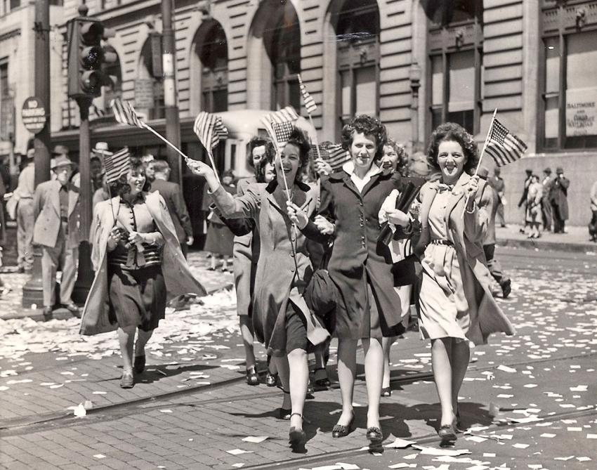 Нью-Йорк, май 1945