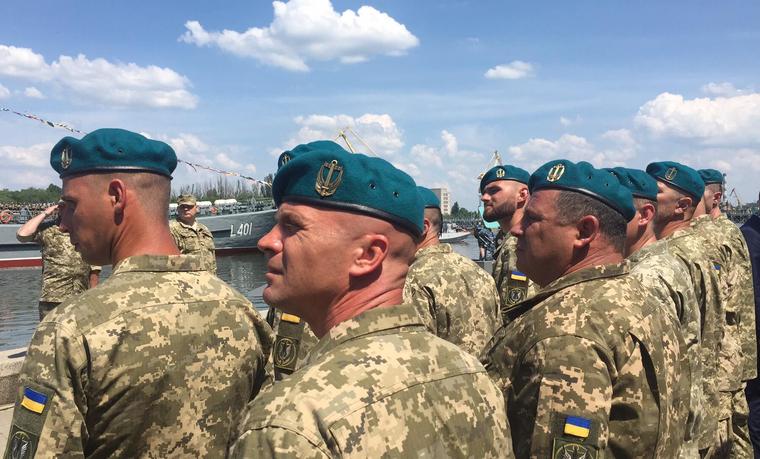 Прощай черный берет морской пехоты Украины!