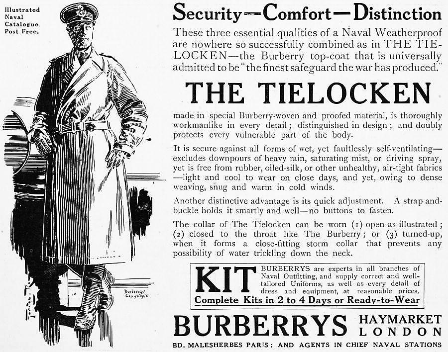 Военное прошлое тренчкота от Burberry