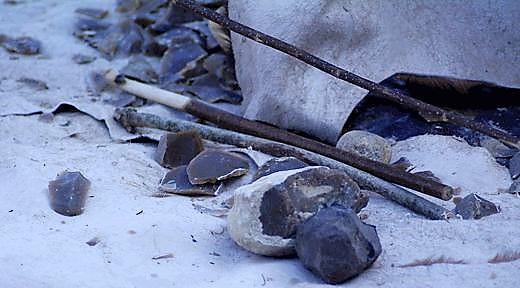 Как сделать нож из камня