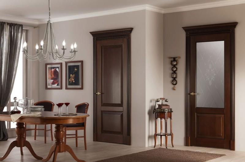 Двери из массива дерева особенности и преимущества