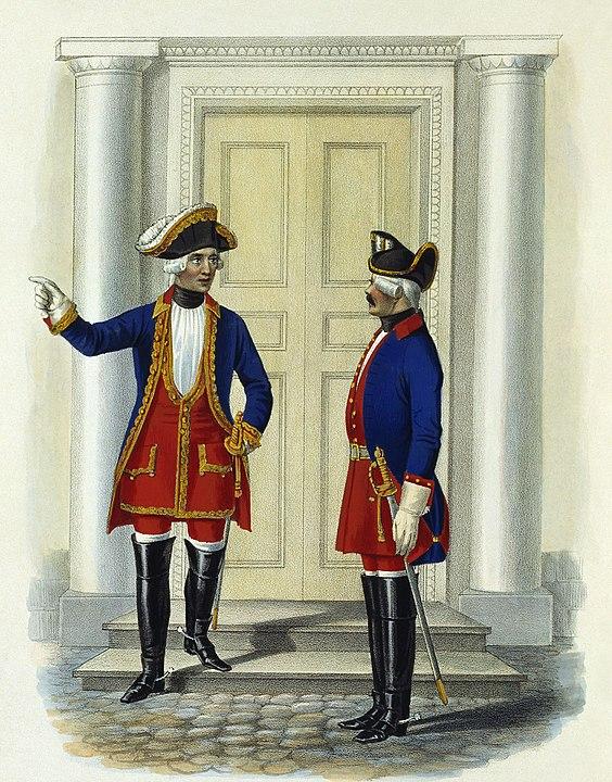 Обер-офицер и рейтар лейб-гвардии Конного полка. 1731—1742